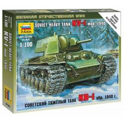 Wargames (WWII) tank 6141 - Soviet Heavy Tank KV-1 (1:100)