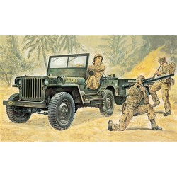 Model Kit military 0314 - Willys MB Jeep with Trailer (1:35)