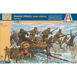 Model Kit figurky 6876 - WWII RUSSIAN INFANTRY (WINTER UNIFORMS) (1:32)