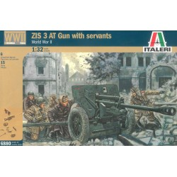 Model Kit figurky 6880 - WWII ZIS 3 AT GUN with crew (1:32)