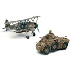 Supermodel letadlo a military 10-501 - AUTOBLINDA AB 41 & CR.42 LW (1:48)