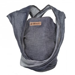 ByKay šátek WOVEN WRAP DeLuxe Dark Jeans (vel. 7)