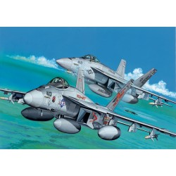 "Model Kit letadlo 4609 - F/A-18E SUPER HORNET LOW VIS VFA-147 ""ARGONAUTS"" & VFA-105"" (1:144)"