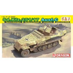 Model Kit military 6592 - SD. KFZ. 251/17 AUSF.C/COMMAND VERSION (1:35)