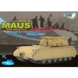 Dragon Armor military 60156 - German Super Heavy Tank Maus (Weight Mock-Up Turret) Delivery Paint Scheme, Böblingen 1944 (1:72)