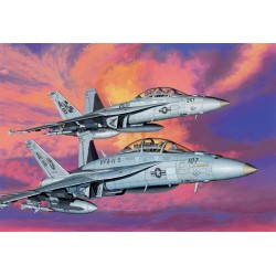 "Model Kit letadlo 4610 - F/A-18F SUPER HORNET VFA-11 & VFA-211 ""FIGHTING CHEKMATES"" (1:144)"