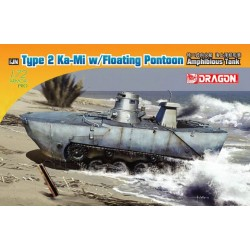 "Model Kit military 7485 - IJN TYPE 2 AMPHIBIOUS TANK ""KA-MI"" W/FLOATING KIT EARLY PRODUCTION (1:72)"