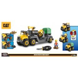 CAT 3v1 servisný truck + miešačka + smetiari