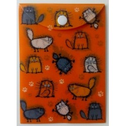 Pouzdro na dok.A6 - Chlupaté kočky