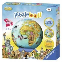Detská mapa sveta Puzzleball 108d