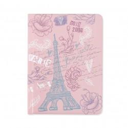 Diář 18měsíční pastel Eiffel