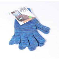 Modré rukavice na dotykový displej