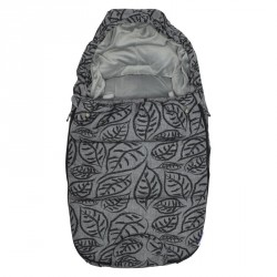 Dooky footmuff vel. S GREY LEAVES DeLuxe