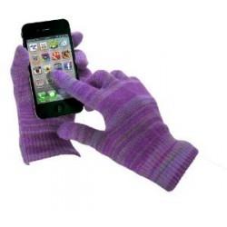 Purpurové rukavice na dotykový displej