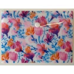 Pouzdro na dok.B6 - Akvarelové květy