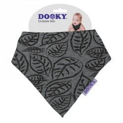 Dooky bryndáček Dribble Bib Grey Leaves