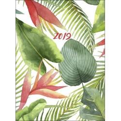 Diář týdenní akvarel tropické listy