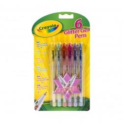 Crayola 6 ks třpytivých gelových per