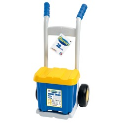 Vozík s boxom s náradiem 20 doplňkov modro-šedý