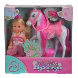 Bábika Evička Princezná s koňom