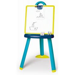 Tabuľa na kreslenie 2v1stojacia modrá