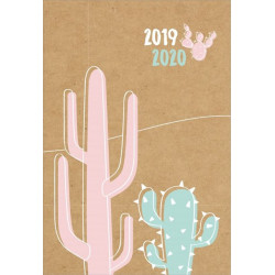 Diář 18měsíční kraft kaktus