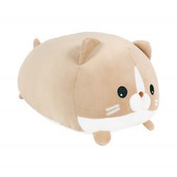 Plyšový polštář hnědá kočka