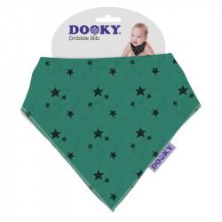 Dooky podbradník Dribble Bib Green Stars