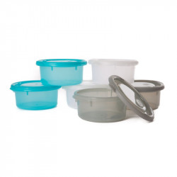 Bo Jungle misky s viečkami Bowls Blue/White/Grey 300ml (6ks)