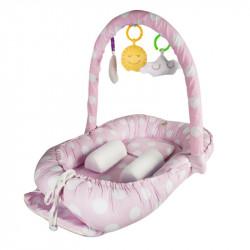 BabyJem hniezdočko Between Parents Baby Bed Pink