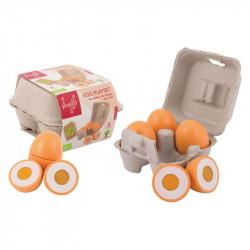 Jouéco drevený vaječný set 9ks 24m+