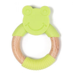 Bo Jungle hryzátko B-TEETHER ANIMAL WOOD Green Frog