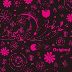 Mini pero ružovými kvetmi