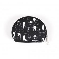 Mini peňaženka s mačkami