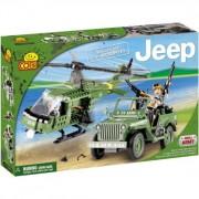 COBI 24254 Small Army JEEP Willys MB s vrtulníkom