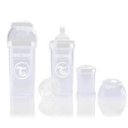 Twistshake antikoliková láhev 260ml WHITE