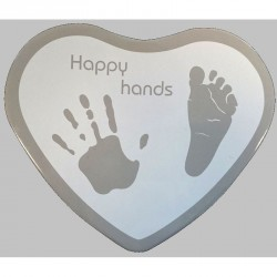 Happy Hands 2D Heart Silver/White