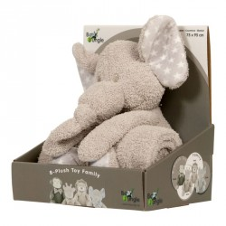 Bo Jungle plyšová hračka s dekou Elephant