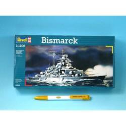 Plastic ModelKit loď 05802 - Bismarck (1:1200)