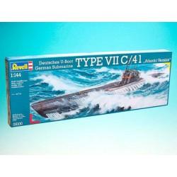 Plastic ModelKit ponorka 05100 - Submarine Type VII C/41 (1:144)
