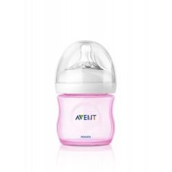 Avent fľaša 125ml Natural PP ružová