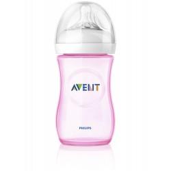 Avent fľaša 260ml Natural PP ružová