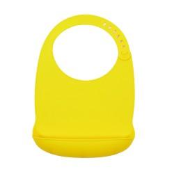 Podbradník silikónový Sam žltý Petite&Mars