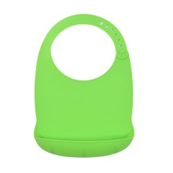 Podbradník silikónový Sam zelený Petite&Mars