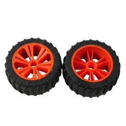 REVELL - REVELLUTIONS (47207) - Set 2x Wheel for Monster, orange