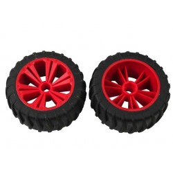 REVELL - REVELLUTIONS (47208) - Set 2x Wheel for Monster, red