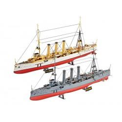 Plastic ModelKit lodě 05500 - Combi Set German WWII Cruisers SMS Dresden & SMS Emden (1:350)