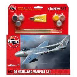 Starter Set letadlo A55204 - De Havilland Vampire T11 (1:72)