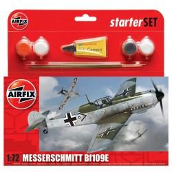 Starter Set letadlo A55106 - Messerschmitt Bf109E3 (1:72)