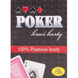 ALBI Poker plastové karty - červené